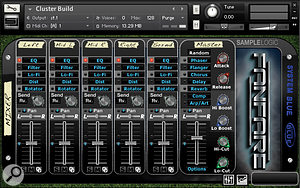 The default mixer screen for 5-mic instruments from the Stadium category.