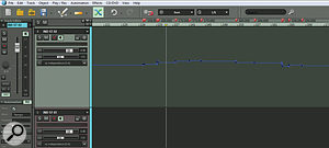 Pro X's new Tempo Track is actually an automation lane that can be displayed on another track of your choice. Tempo changes are mirrored in the timeline by Tempo Change markers (top) or Grid Position markers (below).