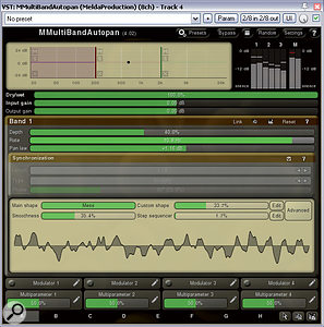Here are two lesser-known plug-ins for adding width to amono sample, both of which boast excellent mono compatibility: Melda's MMultiBandAutopan and Dallas Hodgson's SHEPPi.
