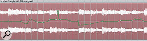 You might be surprised by how effectively detailed level automation can apparently rebalance the internal sounds in acomplex mixed sample. You can usually create quite ahilly level envelope before anything begins to seem unmusical to the average listener.
