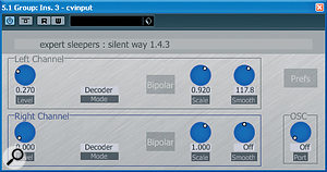 Silent Way is not only aMIDI‑to‑CV converter: the CV Input plug‑in can record control voltages output fromyour synths.