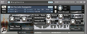 The arpeggiator is an integral part of Morphestra's modus operandi and offers acomprehensive set of features.