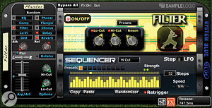 The core effects sequencer is available to all instruments, and is seen here controlling the filter's Lo-cut and Hi-cut frequencies.