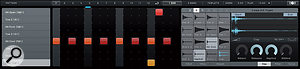 Beat Tracks, and the Beat Page editor shown here, provide simple and effective tools for drum programming.