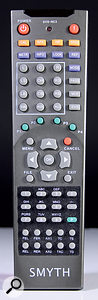 The Realiser A8 is programmed, somewhat laboriously, using this remote control.