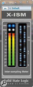 SSL's free X-ISM VST plug-in can measure inter-sample distortion.