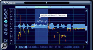 After adding vibrato, you can increase or decrease the vibrato amplitude.