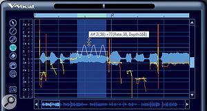 After adding vibrato, you can increase or decrease the vibrato amplitude.