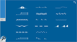 Pick a  phrase by clicking on a  graphic symbol.