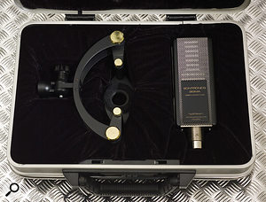 The Sigma is supplied as standard in a smart metal case, complete with its unusually shaped shockmount.