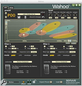 The Wahoo editor software's ingenious vowel display lets you select the specific vowels sounds you wish to create by using the two filters in tandem.