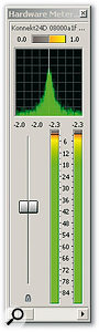 The new Hardware Meter window can also display the Phase Scope and Mono Compatibility Meter.