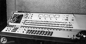 The original Sound Techniques 'Chelsea' mixer built by Frost and Wood, in the control room.