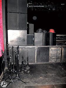Keeping the stage as tidy as possible will help enormously when it comes to setting up the band's microphones and cables.