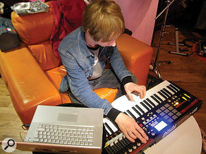 Keyboard player Andy Wright usually uses his Apple laptop as the main sound source, so little change was required for this gig.