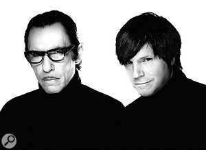 Ron (left) and Russell Mael of Sparks today.