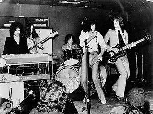 Sparks in London, November 1972 (from left): Ron Mael, Jim Mankey, Harley Feinstein, Russell Mael, Earle Mankey.