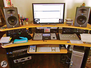 Sparks are enthusiastic adherents of home recording. Their current setup is located in singer Russell Mael's house and is based around MOTU's Digital Performer DAW.