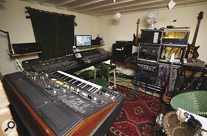 Tom Jenkinson's living room: not your average home studio.