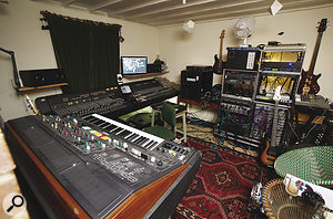 Tom Jenkinson's living room: not your average home studio.