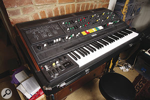 A recent addition that goes against Jenkinson's usual principles is his vintage Yamaha CS80 polysynth.