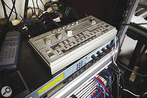 As well as unusual and custom‑built gear, Tom Jenkinson retains some of the staple instruments of '90s dance music, among them aRoland TB303.