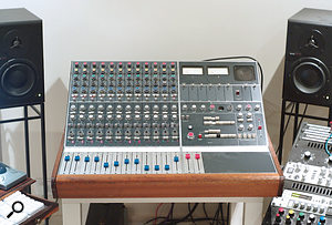 A 12–channel Neve mixer is central to Price's studio.