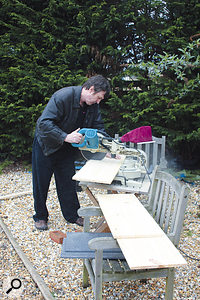 A trip to B&Q later, Paul had all the pine board he needed to build some attractive and sturdy speaker stands.