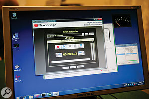 The Winchester Talking Newspaper use this Newsbridge software to record all of their spoken news stories.