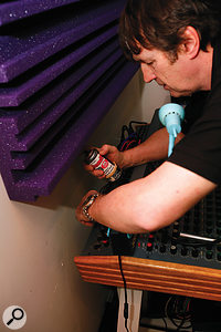 A quick spray of Caig's Deoxit contact cleaner managed to cure a scratchy gain pot on Sunita's Soundtracs mixer.