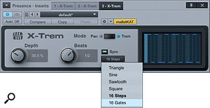 1: X-Trem has simple controls but can produce surprisingly complex rhythmic effects.