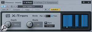 2: Here the X-Trem has aBeats value of 1/2, which is half abar, or atwo-beat cycle.