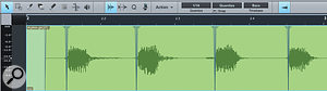 Audio Part: Note the crossfades between slices. Each slice is actually an Audio Event that can be separately treated, if desired.