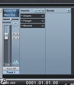 Clicking on the 'Inserts' label enables you to drag the entire effects chain to the Browser to store it.