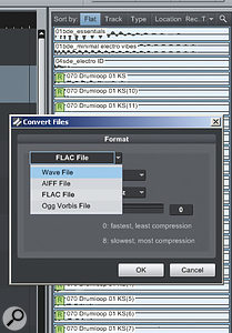 Converting files to a different resolution is effortless using the Pool.