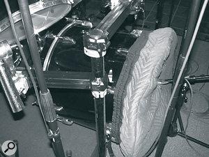Bruce Swedien's custom‑made kick‑drum cover.
