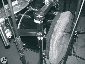 Bruce Swedien's custom‑made kick‑drum cover.