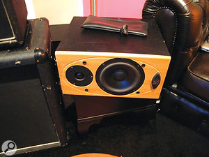 There's no conventional PA: instead, sounds are distributed among four hi-fi speakers scattered around the room.
