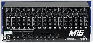 The rear panel is clearly laid out, and offers inserts on each channel, as well as the line and mic inputs and the outputs.