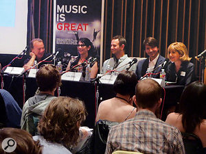 A conference session on music for film at the LA trade mission.