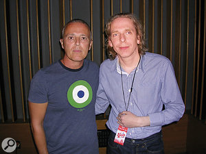 You might even get to meet your heroes: the author (right) with Curt Smith of Tears For Fears at the LA trade mission.
