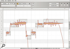 Here you can see asmall section of the lead vocal part from SOS January 2011's Mix Rescue mix, in Celemony's Melodyne Editor pitch/time‑processing software. Although notes look out of tune, you can listen to the remix to confirm that they don't sound that way in the context of the track.