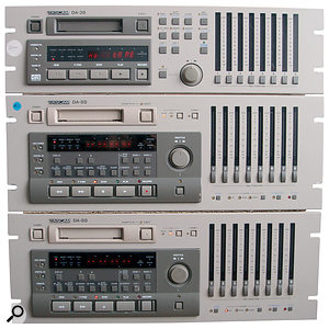 Welcome to the digital age: three synchronised Tascam multitracks allowed simultaneous and noise‑free 24‑track recording, but brought with them their own frustrations.