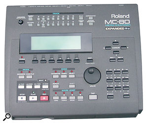 The old order: in the days when backing tracks involved a lot of hardware MIDI sound sources, a Roland MC500 and SBX80 were used to sequence and synchronise them to tape. The later Roland MC80 was a far‑sighted purchase allowing MC500 data to be converted back to MIDI files.