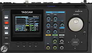 The colour screen is used to good effect on the DP24, and adjacent to this are plenty of hands-on controls that govern the selected channel.