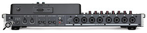 The DP24's rear panel offers eight inputs that can supply phantom power to microphones, and there's also asend and return for an external effects chain — not to mention USB connectivity for direct file transfer to and from acomputer.