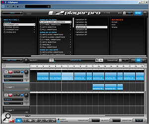 EZ Player Pro provides both browsing and arrangement facilities for MIDI drum loops.