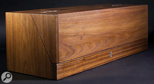 The Trautonium with its lid closed. Not only is this avery nice piece of carpentry, it also allows you to pretend that your Trautonium is aharmonium or aVictorian travelling medicine chest.