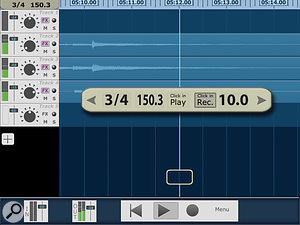 Among Multitrack DAW's useful features is an effective metronome.