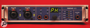 Like most recent RME interfaces, the UCX features no analogue controls at all: everything is configured from software or using the front-panel encoder and attached remote.
